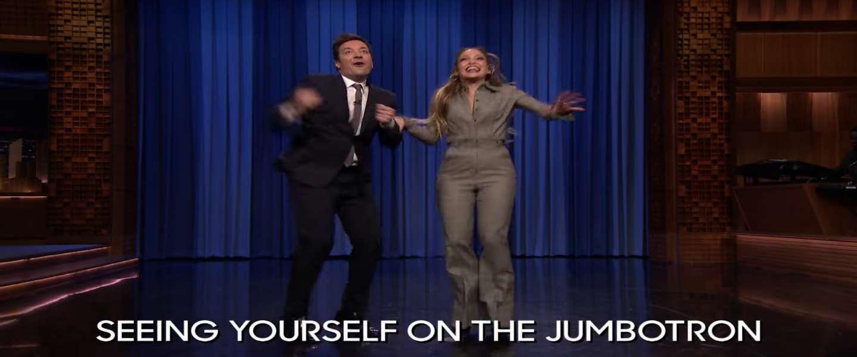 Video: Jimmy Fallon neem het op tegen Jennifer Lopez