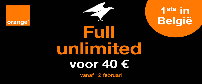 Orange: Eerste abonnement met onbeperkt internet in België