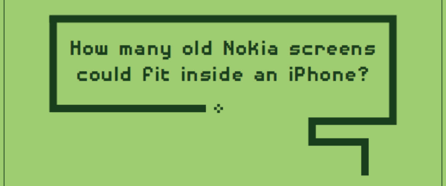 Hoeveel Nokia 5110's passen in een iPhone 6s Plus?