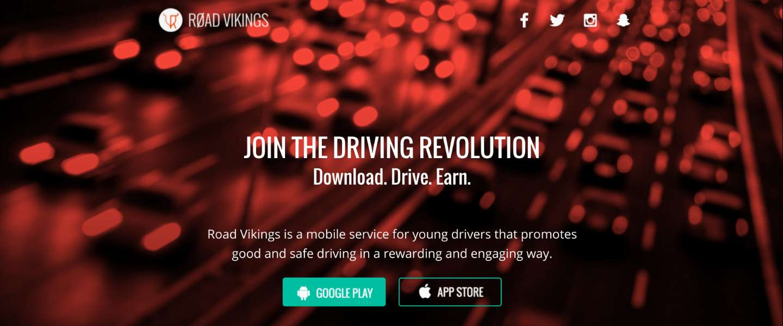 Road Vikings-app beloont veilige chauffeurs