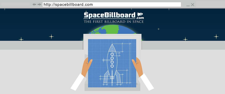 Het eerste reclamepaneel in de ruimte is Belgisch