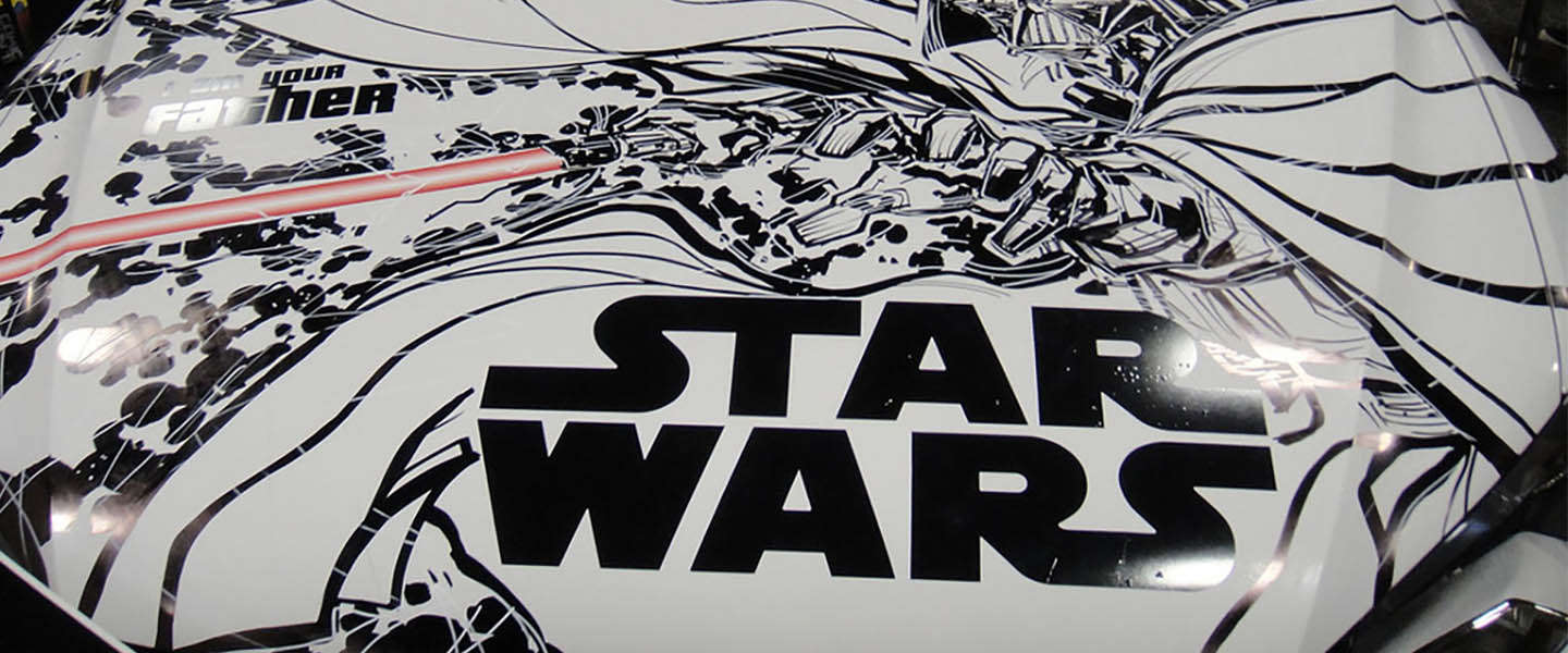 De auto's van Star Wars figuren