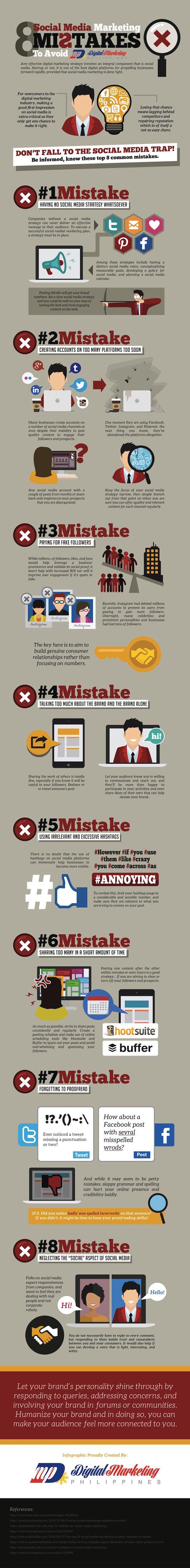 8_fouten die je niet moet maken op het gebied van social Marketing