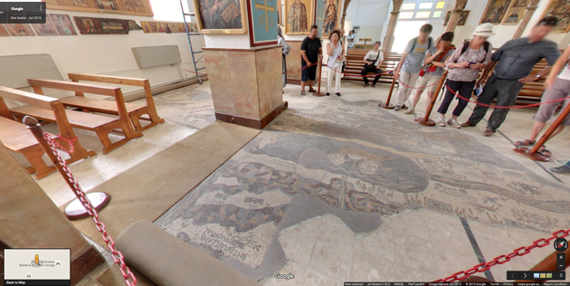 Google Street View Madaba Mosaic Map