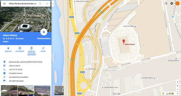 stadions met Street View