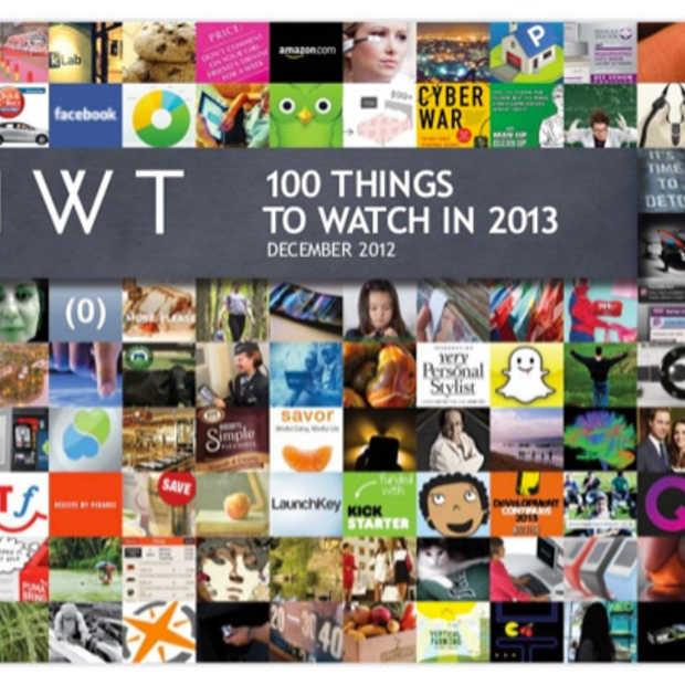 100 dingen die je in 2013 zeker in het oog moet houden