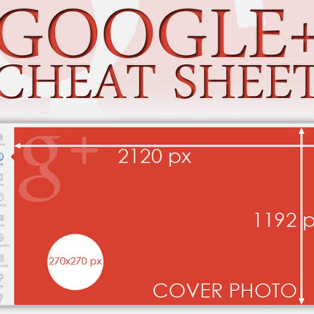 Alle Google+ specificaties op 1 handige cheat sheet'