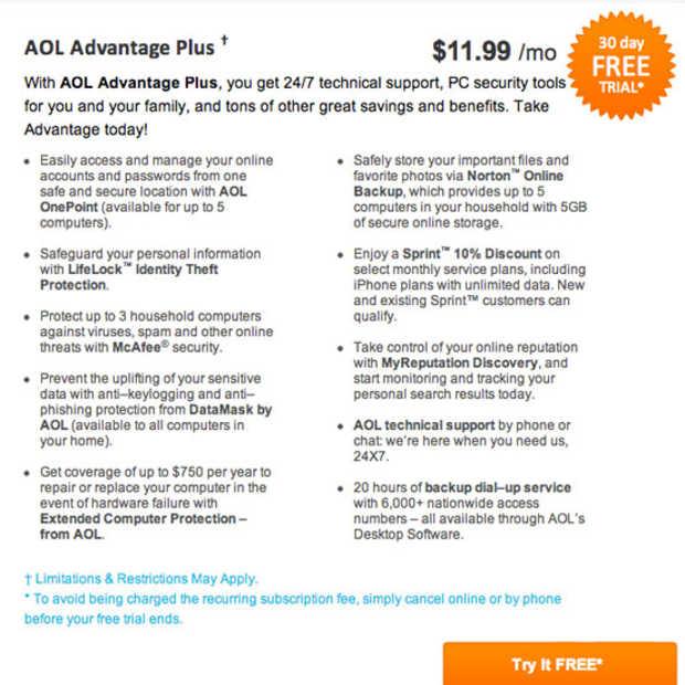 AOL verdient nog steeds $500 miljoen per jaar aan dial-up internet