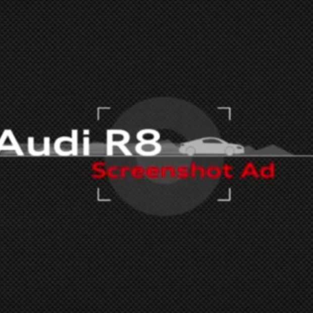 Audi test je snelheid in Screenshot Ad