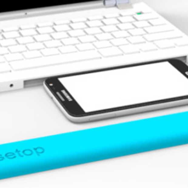 Casetop maakt een laptop van je smartphone