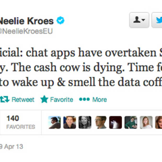 Chat apps hebben SMS ingehaald, hoe erg is dat voor de aanbieders?