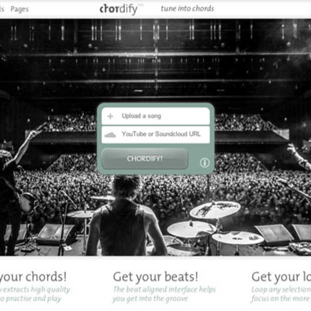 Chordify zet muziek gratis om naar akkoorden