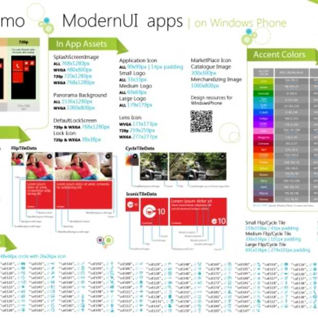Design 'cheat sheet' voor Windows Phone
