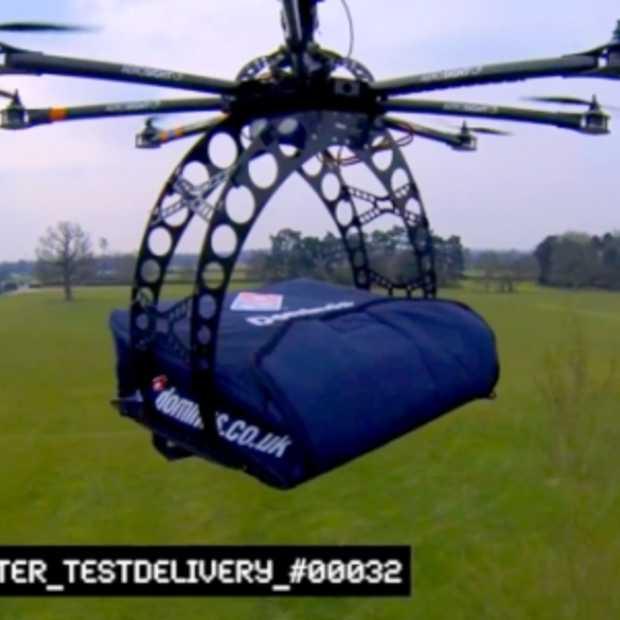 Domino's wil pizza's leveren via drones