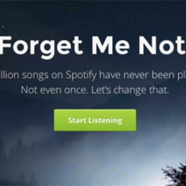 Forgotify: Spotify nummers die nog nooit afgespeeld zijn