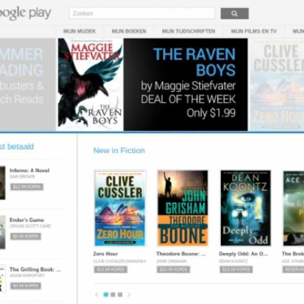Google Play Books beschikbaar in Nederland en België