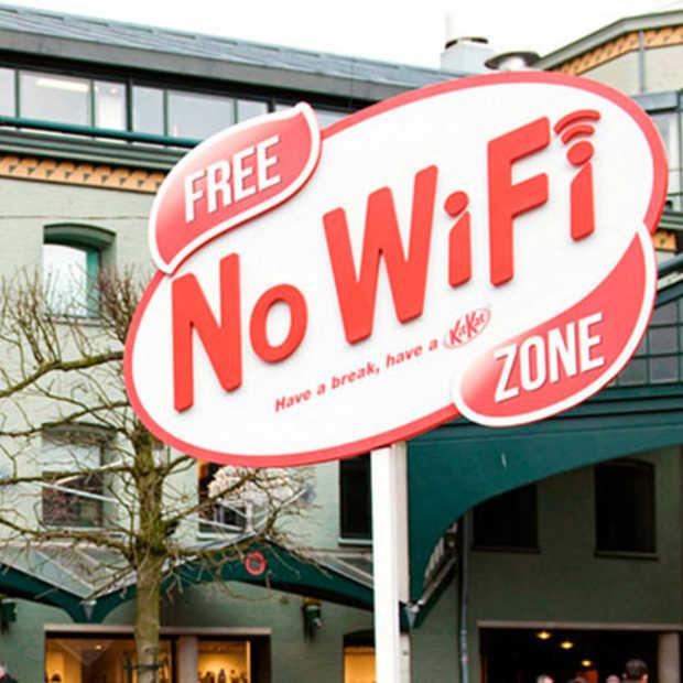 Gratis No WIFI zone dankzij Kit Kat