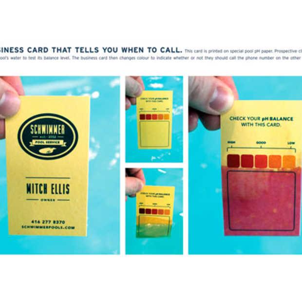 Het business kaartje dat u vertelt wanneer u moet bellen