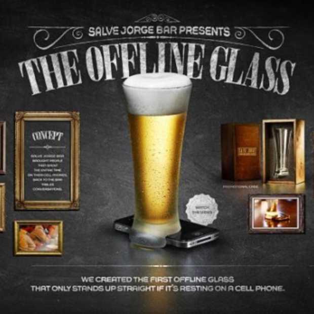 Het offline glas: het anti anti-sociale bierglas