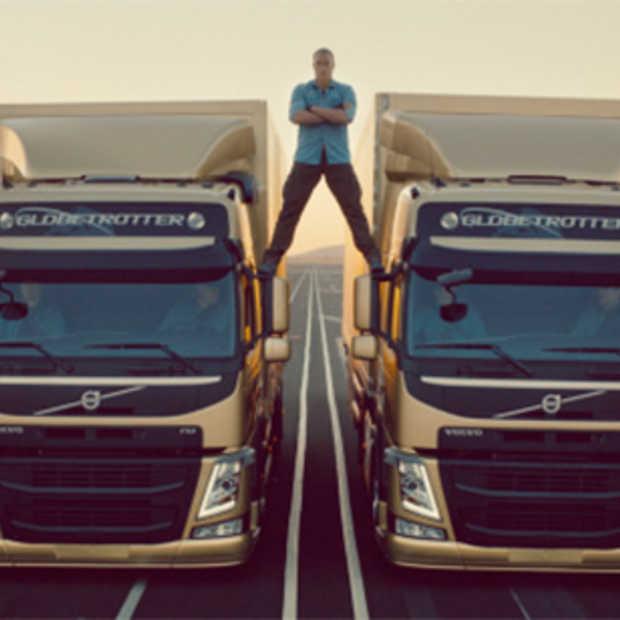 Jean-Claude Van Damme's epic split voor Volvo gaat viraal
