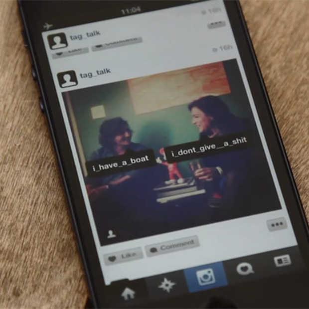 Laat je Instagram foto's spreken met Tag Talk