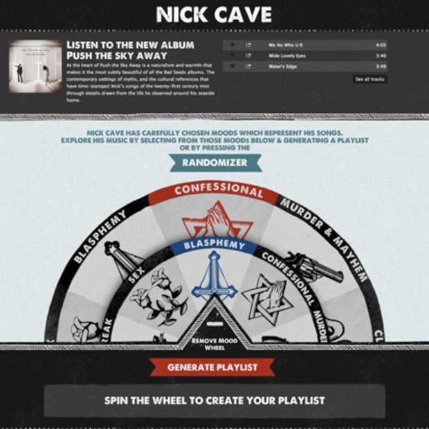 Nick Cave lanceert zijn eigen Spotify app