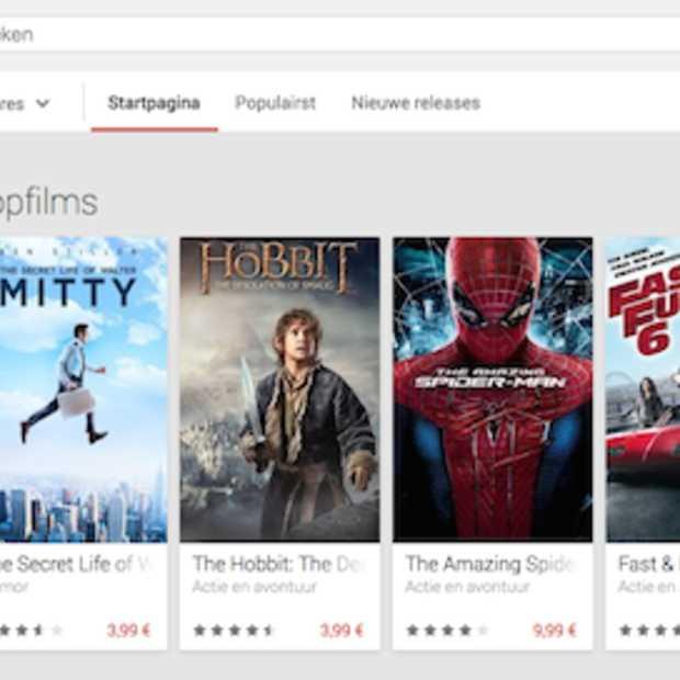 Nieuw in België: films kopen via Google Play
