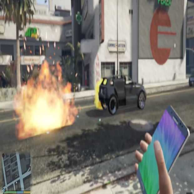 Ook exploderende Galaxy Note 7 in GTA V
