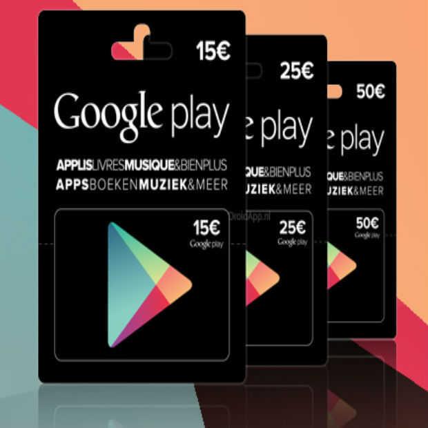 Kies zelf het bedrag van je Google Play Gift Card