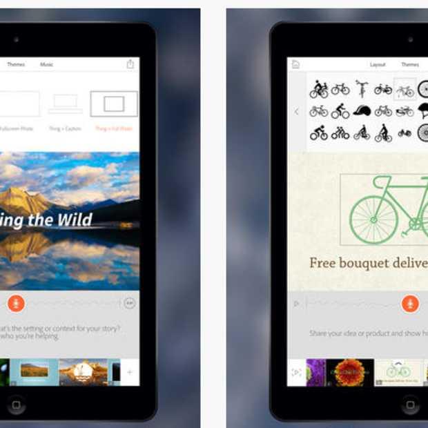 Storytelling app Adobe Voice voor iPad
