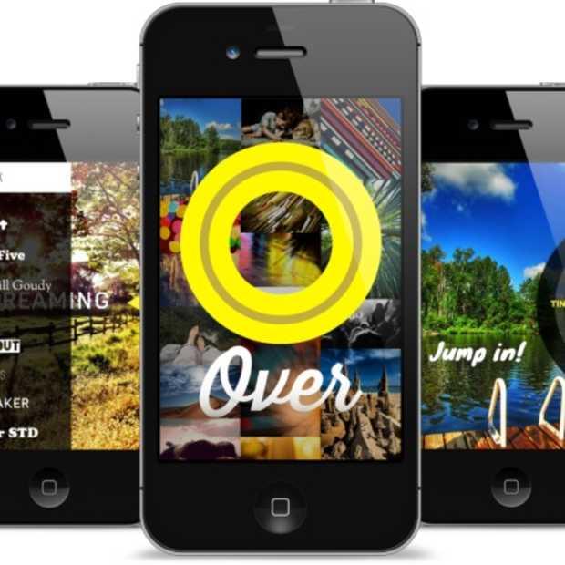 Supermooie typografie voor je foto's met de Over app