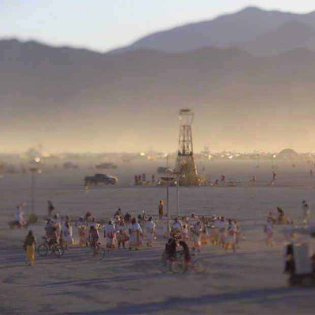 Timelapse video van de Burning Man 2012
