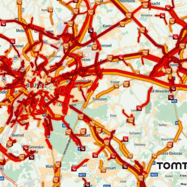 TomTom: de ochtendspits met meer dan 10.000 km file