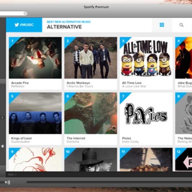 Twitter #music nu ook beschikbaar als Spotify app