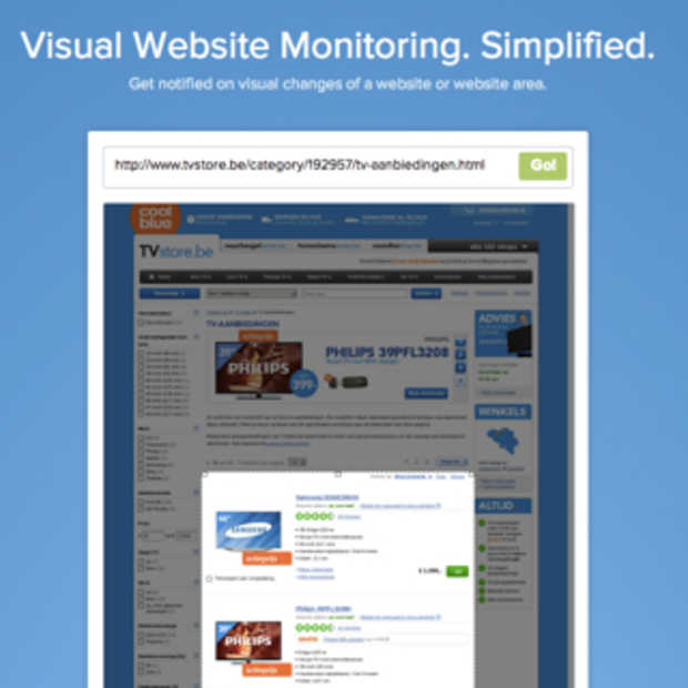Visuele monitoring voor websites met Visualping