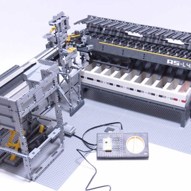 Want u sorteert uw LEGO blokjes toch niet zelf? Hier is de LEGO Axle Sorter AS-L40A