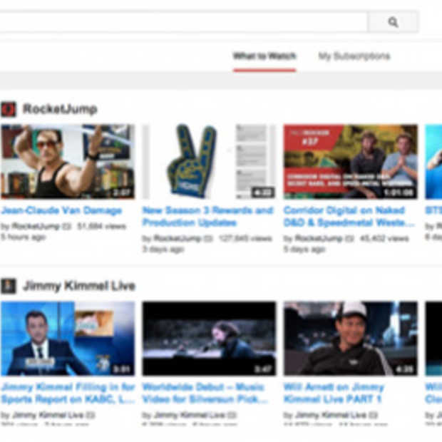 YouTube rolt design aanpassingen uit